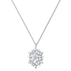 Magic Snow Pendant, White, Rhodium plated