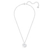 Further Necklace, White, Rhodium plated