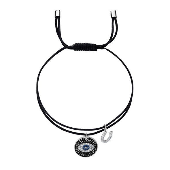 Unisex Evil Eye Bracelet, Multi-colored, Stainless steel