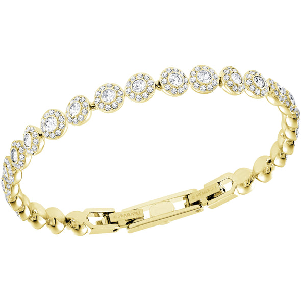 Angelic Bracelet, White, Gold-tone plated