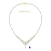 Louison Necklace, White, Gold-tone plated