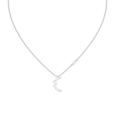 PenElope Cruz Moonsun Necklace, White, Rhodium plated