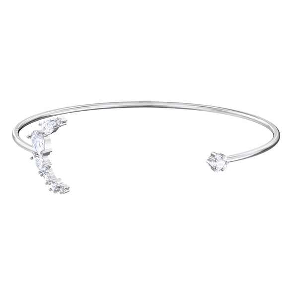 Penelope Cruz Moonsun Cuff, White, Rhodium plated