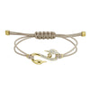 Swarovski Power Collection Hook Bracelet, Brown, Gold-tone plated