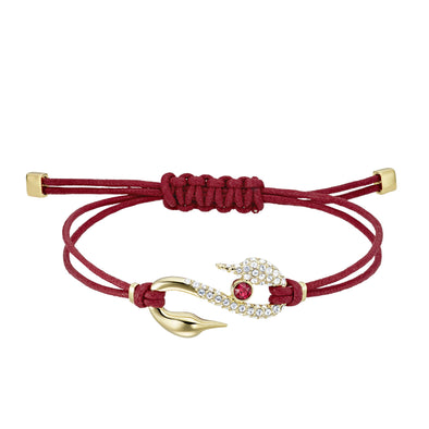 Swarovski Power Collection Hook Bracelet, Red, Gold-tone plated