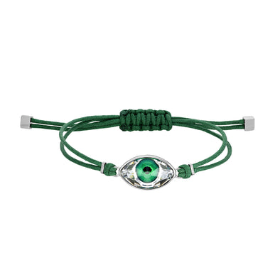 Swarovski Power Collection Evil Eye Bracelet, Green, Stainless steel