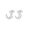 Penelope Cruz Moonsun Pierced Earring Jackets, White, Rhodium plated