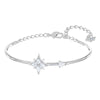 Swarovski Symbolic Bangle, White, Rhodium plated