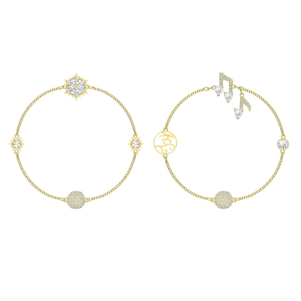 Swarovski Remix Collection Strand Set, White, Gold-Tone Plated