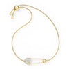 So Cool Pin Bracelet, White, Gold-tone plated
