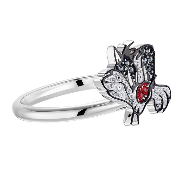 Looney Tunes Sylvester Motif Ring, Multi-colored, Rhodium plated
