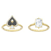 Tarot Magic Ring Set, Multi-colored, Gold-tone plated