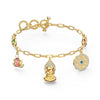 Swarovski Symbolic Buddha Bracelet, Light multi-coloured, Gold-tone plated