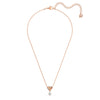 Lifelong Heart Pendant, White, Rose-gold tone plated
