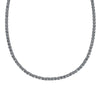 Tennis Deluxe Necklace, Black, Ruthenium plated