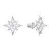 Swarovski Symbolic Star Set, White, Rhodium plated