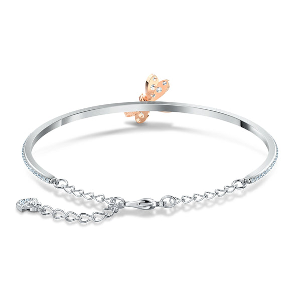 Eternal Flower Bangle, Pink, Mixed metal finish