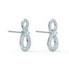 Swarovski Infinity Mini Pierced Earrings, White, Rhodium plated