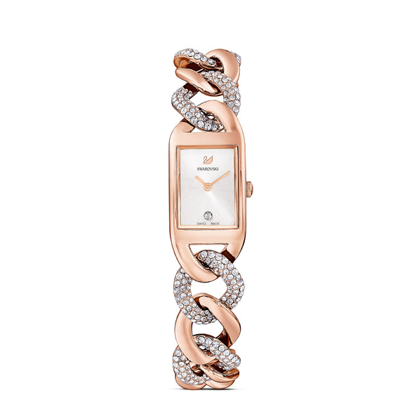 Cocktail Watch, Metal bracelet, Rose gold tone, Rose-gold tone PVD
