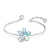 Sunny Bangle, Light multi-coloured, Rhodium plated