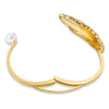 Shell Cuff, Light multi-coloured, Gold-tone plated