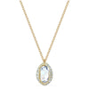 Shell Pendant, White, Gold-tone plated