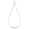 So Cool Choker, White, Rhodium plated