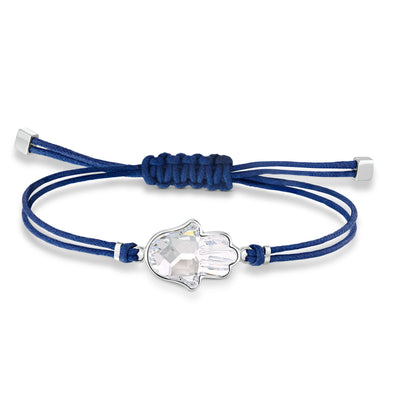 Swarovski Power Collection Hamsa Hand Bracelet, Blue, Stainless steel