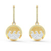 Shine Wave Pierced Earrings, Light multi-coloured, Gold-tone plated