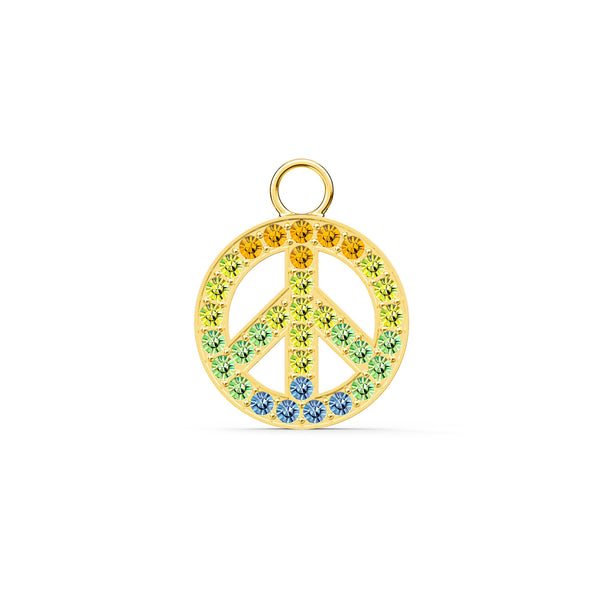 Swarovski Remix Collection Peace Charm, Light multi-coloured, Gold-tone plated