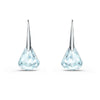Spirit Pierced Earrings, Aqua, Rhodium plated
