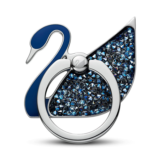 Swan , Blue, Stainless steel