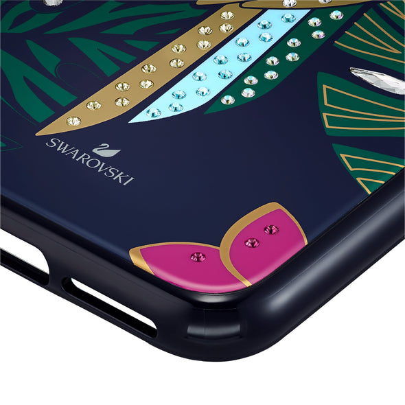 Tropical Parrot Smartphone Case with Bumper, iPhone® 11 Pro, Dark multi-coloured