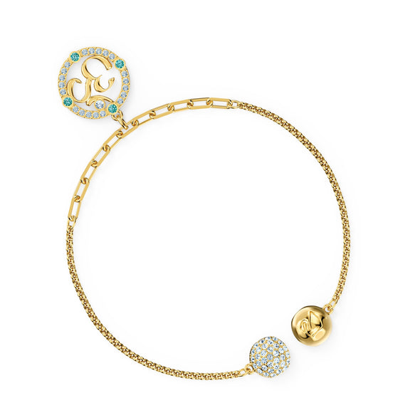 Swarovski Remix Collection Om Strand, Light multi-coloured, Gold-tone plated