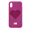 Crystalgram Heart Smartphone Case with Bumper, iPhone® X/XS, Pink