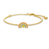Swarovski Sparkling Dance Rainbow Bangle, Light multi-coloured, Gold-tone plated