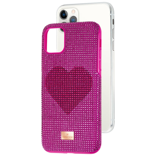 Crystalgram Heart Smartphone Case with Bumper, iPhone® 11 Pro Max, Pink