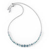 Emily Gradient Bracelet, Blue, Rhodium plated