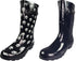 Norty Women's Hurricane Wellie - Glossy Waterproof Mid-Calf Rainboots, 39696