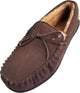 Norty Mens Genuine Leather Cowhide Suede Slippers - Moccasin Slip On Loafer, 39861