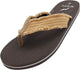 NORTY Men's Lightweight Canvas Strap Thong Flip Flop Everyday Beach Pool Sandal, 40571