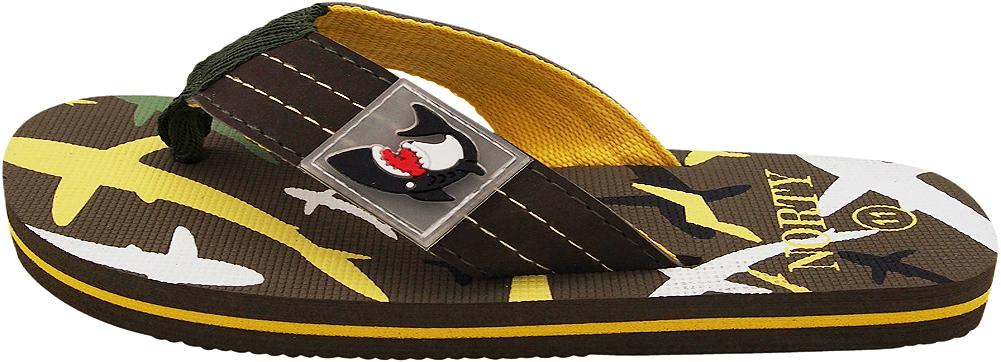 Norty Boy/'s Shark Flip Flop Thong Sandal Perfect for the Beach Pool or Everyday