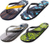 Norty Men's Graphic Print Flip Flop Thong Sandal for Beach, Pool or Everyday, 40652