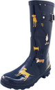Norty Women's Hurricane Wellie - Glossy Matte Waterproof Mid-Calf Rainboots, 40705