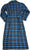 Norty Men's Soft Brushed Cotton Flannel Shawl Collar Bathrobe - 8 Prints, 40812