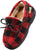NORTY Toddler Little & Big Kid Boys Girls Fleece Plaid Moccasin Slip On Slipper, 40914