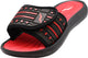 Norty Boy's Summer Comfort Casual Slide Flat Strap Shower Sandals Slip On Shoes, 41028