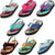 Norty Toddler Baby Boys Girls Thong Elastic Slingback Flip Flop Flat Sandal, 41052