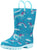 Norty Toddlers Little Kids Boys Girls Waterproof PVC Rain Boots - 10 Colors, 41264
