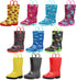 Norty Little Big Kids Boys Girls Waterproof PVC Light Up Rain Boots, 41279